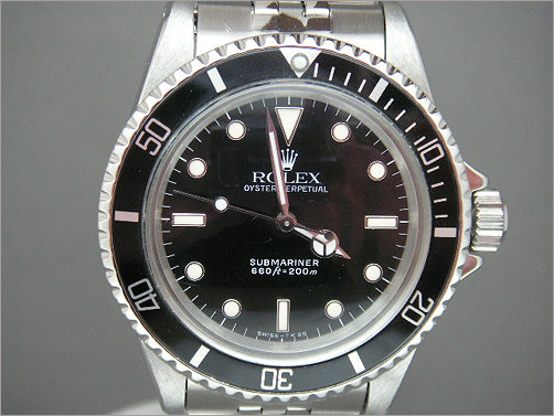 Vintage Mens Rolex Submariner 5513