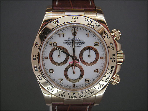 Pre owned mens Rolex 18K Daytona 116518