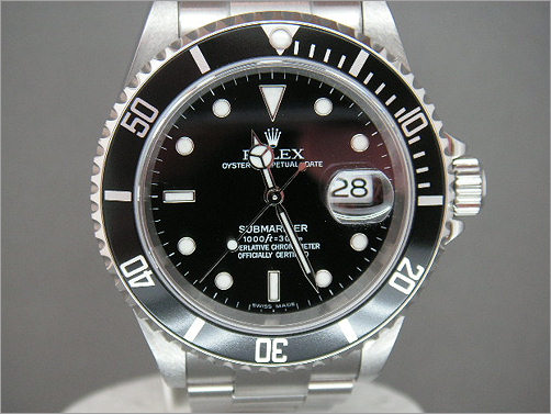 Worn once mens Rolex Submariner Date 16610