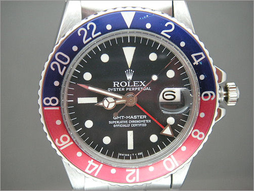 Mens vintage Rolex GMT 1675 box and punched papers