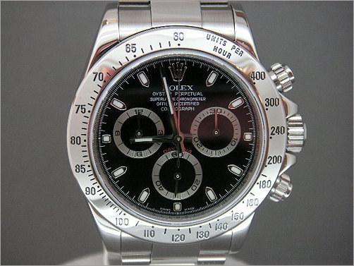 Worn once Rolex stainless steel Daytona black dial 116520
