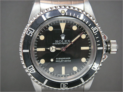 Mens Vintage Rolex Submariner 5513 with box, papers and sales invoice