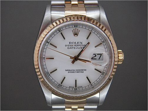 Pre owned mens Rolex steel and gold Date-Just 16233