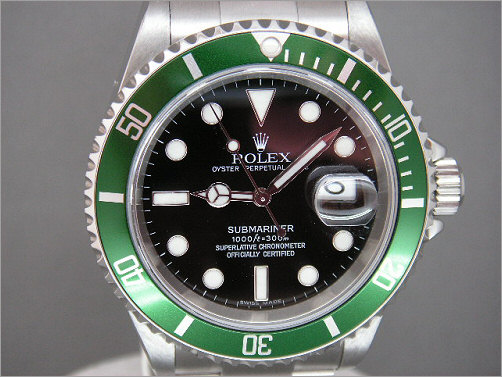 Pre owned mens Rolex anniversary Submariner 16610LV