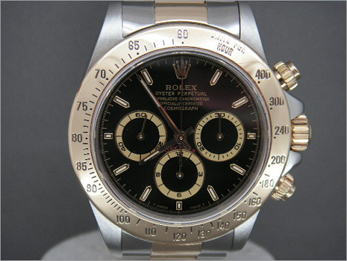 Rare Mens Rolex Zenith steel and 18K Daytona 16523