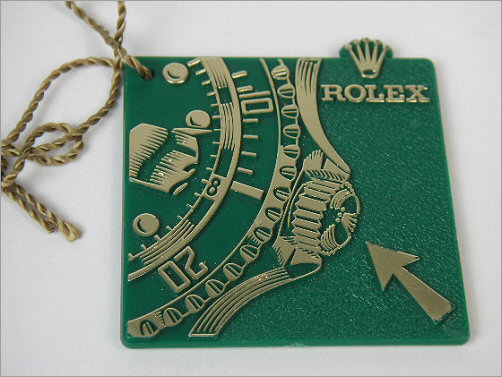 Very rare Rolex Submariner Triplock hand tag