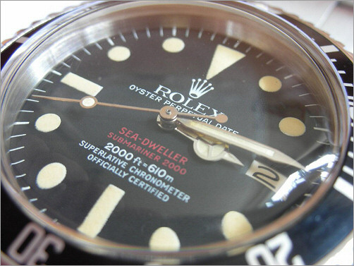 Rare mens Rolex Vintage Double Red Sea-Dweller 1665