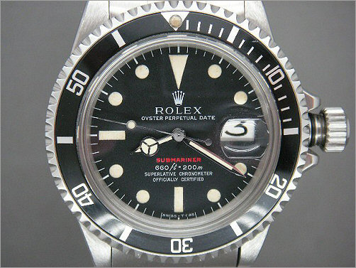 Mens vintage Rolex red writing Submariner 1680