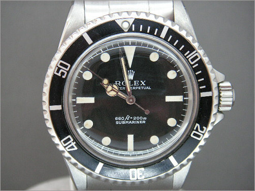 Mens vintage Rolex Submariner 5513
