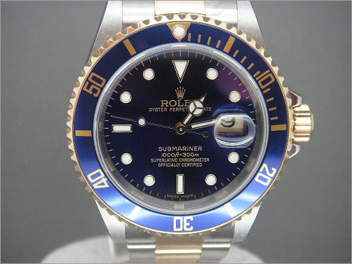 Mens Rolex steel and gold Submariner 16613
