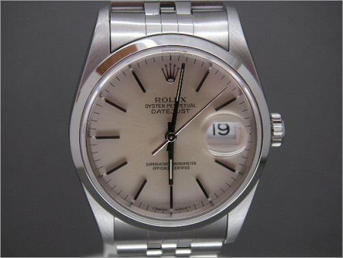 As new Mens Rolex steel Date-Just 16200
