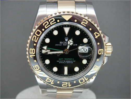 As new Mens Rolex new steel and 18k GMT2 116713LN