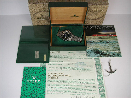 Vintage Rolex Submariner 1680 box and punched papers