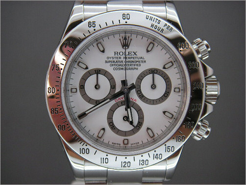 As new UK mens Rolex stainless steel Daytona 116520  (Fat Hands)