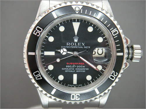 Mens vintage Rolex Submariner red writing 1680