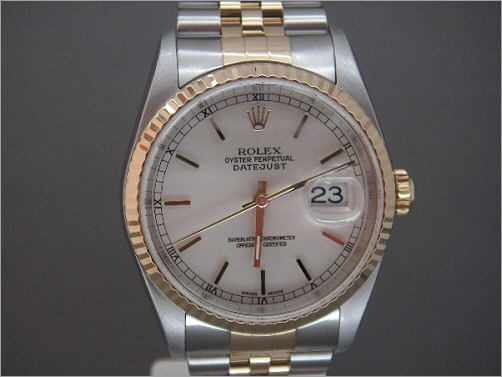 Mens Rolex steel and 18K Date-Just 16233