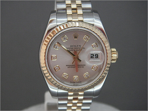 As new Ladies new generation Rolex Date-Just 179173 diamond dial