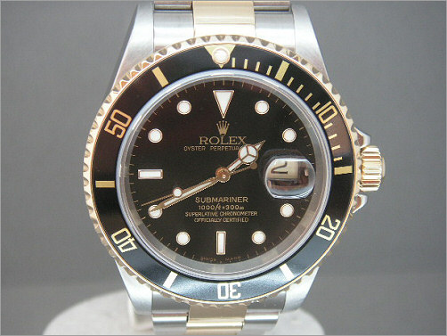 Mens Rolex steel and 18k Submariner 16613