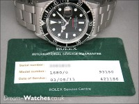 Vintage Rolex Submariner 1680 Red Writing 200m=660ft