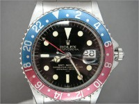 1960's vintage Rolex GMT 1675 pointed crown guards - Double Swiss underline dial!