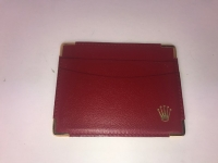 GENUINE LADIES ROLEX RED LEATHER GUARANTEE PAPER HOLDER