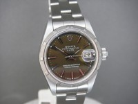 Rolex Ladies Oyster Date 69190 Caramel Dial Complete Example