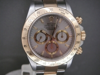 Rolex Zenith Daytona 16523 Steel & 18ct Gold Slate Grey Dial 1999 UK Watch
