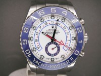 Rolex Yacht-Master 2 116680 SS Blue Ceramic Bezel Feb 2014 White Dial Worn Once