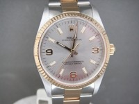 Rolex Oyster 14233 34mm Steel & 18ct Gold White Dial Complete 2004 UK Complete Watch