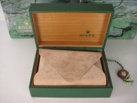 Stunning Rolex Mens Or Ladies Rolex Inner and Outer Box - Green Leather, Satin Wood Finish! WOW