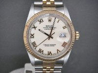 Rolex Date-Just 16013 Steel & 18ct Gold|One Owner & Just Rolex Serviced 6/12/12 Totally Complete Amazing Example!