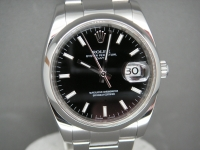 Rolex Oyster Date 115200 Stainless Steel Black Dial 2008 Complete Example