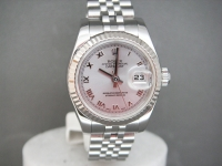 Rolex Ladies Date-Just Rose Gold & Steel with Diamond Dial - Complete UK Watch