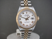 Ladies Rolex Date-Just 79173 Steel & 18k Gold White Roman Dial Stunning!