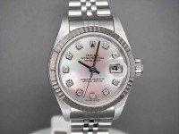 Ladies Rolex Datejust 79174 Rare Stunning Rolex White Mother of Peal Diamond Dial