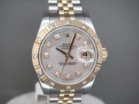 Ladies Rolex Date-Just 179313 Diamond Bezel & Dial Mother Of Pearl Worn Once