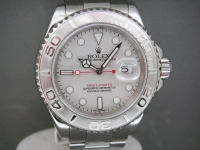 Rolex Yacht Master 16622 Full Size Stainless with Platinum Bezel Complete Watch