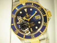Rolex Submariner 16613LB Steel & Gold Blue Kit 2008 UK Complete Watch Great Investment