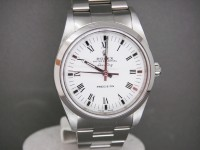 Rolex Air-King 14000M Stainless Steel White Dial Roman Numerals Complete Watch