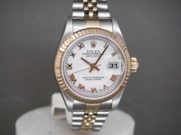 Ladies Rolex Date-Just 79173 steel & Gold White Roman Dial Complete UK Watch
