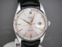 Rolex Vintage Oyster Date 6694 Freshly Serviced on Black Leather Strap