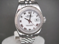 Ladies Rolex date-Just 179174 26mm Stainless Steel White Dial 2011 Watch