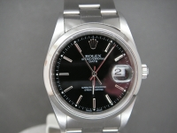 Rolex Oyster Perpetual Date Stainless Steel Stunning Black Dial