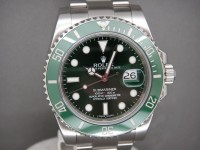 "Rolex Submariner Date 116610LV Green ""Hulk"" Ceramic Dec 2011 As  New UK Watch"