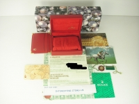 TOTALLY COMPLETE LADIES ROLEX RED LEATHER BOX SET - ALL ACCESSORIES INCULDED