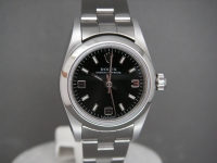 Ladies Rolex Oyster 24mm 76080 Black Dial Totally Complete Pristine Example