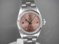 Rolex Ladies Oyster Pink Salmon Dial Complete with Box and Papers | Dream Watches