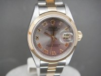 Ladies Rolex Date-Just 79163 Steel & 18ct Gold Rhodium Dial Complete As New Watch