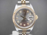 Rolex Ladies Datejust 79173 Rhodium Dot Diamond Dial Totally Complete Example