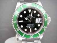 Rolex Submariner 16610LV Green Anniversary 2008 Complete UK Example